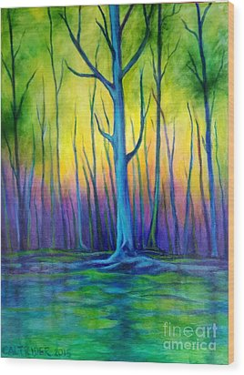 Standing Tall  Wood Print by Alison Caltrider