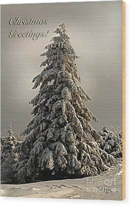 Standing Tall Christmas Card Wood Print by Lois Bryan