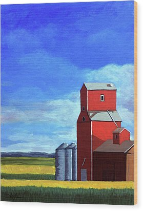Wood Print featuring the painting Standing Tall by Linda Apple