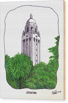 Stanford Wood Print by Frederic Kohli