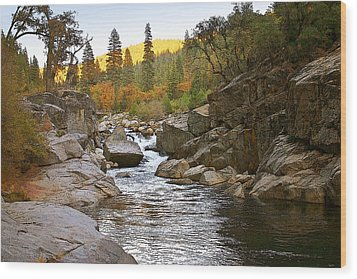 Wood Print featuring the painting Stanislaus Fall Sunset Looking East by Larry Darnell