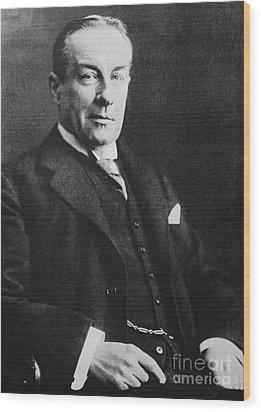 Stanley Baldwin, English Politician Wood Print by Photo Researchers