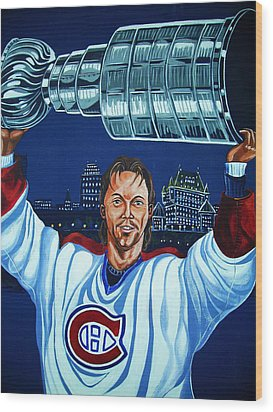Stanley Cup - Champion Wood Print by Juergen Weiss