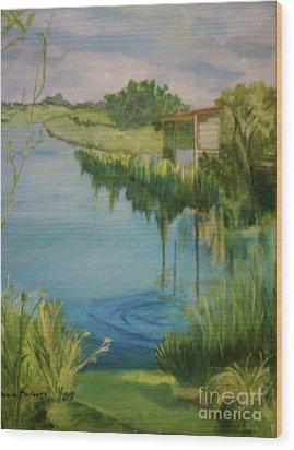 Stanwick Lakes Wood Print