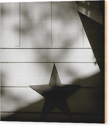 Star And Stripes Wood Print by Dave Bowman