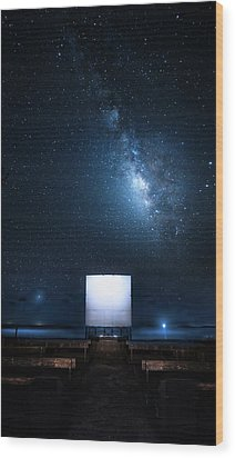 Wood Print featuring the photograph Star Cathedral by Mark Andrew Thomas