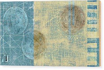 Star Chart Landing Pattern Wood Print by Carol Leigh