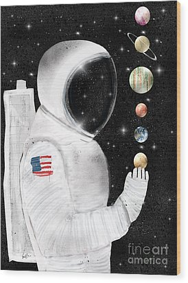 Wood Print featuring the painting Star Man by Bri B