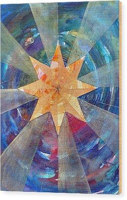 Star Mandala 1  Wood Print