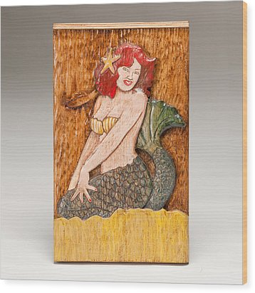Star Mermaid Wood Print by James Neill