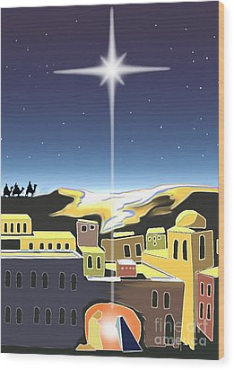 Star Of Bethlehem Wood Print by Larry Cole