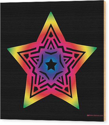 Star Of Gratitude Wood Print by Eric Edelman