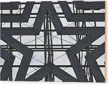 Star Power Roanoke Virginia Wood Print