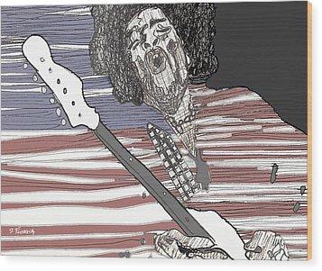 Star Spangled Banner Wood Print by David Fossaceca
