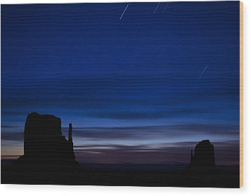 Star Trails Over The West Wood Print by Andrew Soundarajan