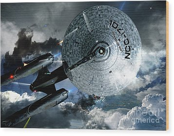 Star Trek Into Darkness, Original Mixed Media Wood Print