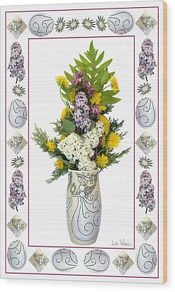 Wood Print featuring the photograph Star Vase With A Bouquet From Heaven by Lise Winne