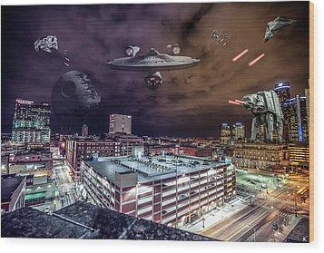 Wood Print featuring the photograph Star Wars Detroit by Nicholas Grunas