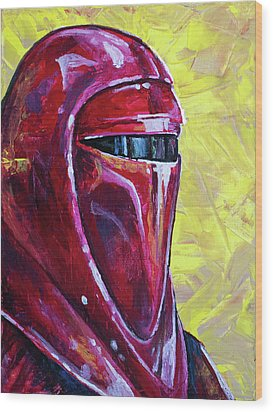 Star Wars Helmet Series - Imperial Guard Wood Print by Aaron Spong