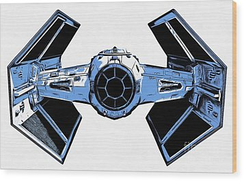 Star Wars Tie Fighter Advanced X1 Wood Print by Edward Fielding