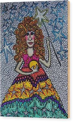 Star Wish  Fairy Wood Print by Gerri Rowan