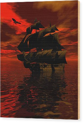 Starboard Tack Wood Print by Claude McCoy