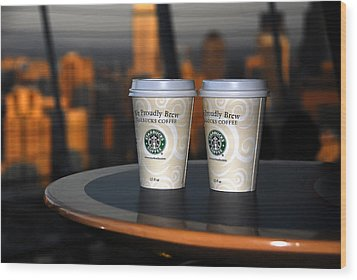 Starbucks At The Top Wood Print by David Lee Thompson