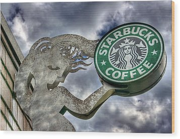 Starbucks Coffee Wood Print
