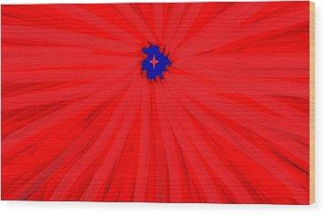 Starburst 2' By Sumi E Master Linda Velasquez Wood Print