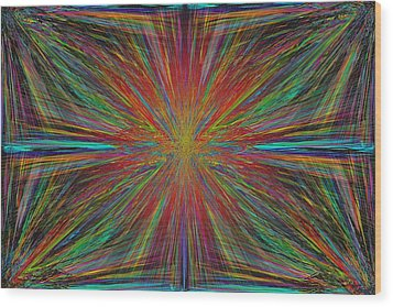 Starburst Wood Print by Tim Allen