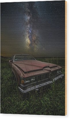 Wood Print featuring the photograph Stardust And Rust - Pontiac by Aaron J Groen