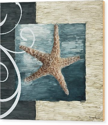 Starfish Spell Wood Print by Lourry Legarde