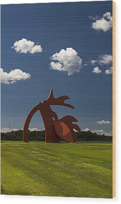 Stargazer Wood Print by Bob Retnauer