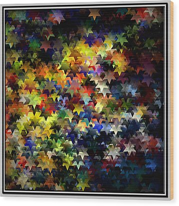 Starlight Wood Print by Susan  Epps Oliver
