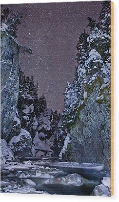 Starry Creek Wood Print by Brandon Broderick