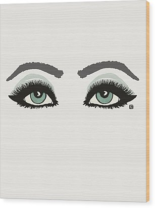 Wood Print featuring the painting Starry Eyed by Lisa Weedn