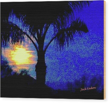 Starry Night At Casapaz Wood Print by Jack Eadon