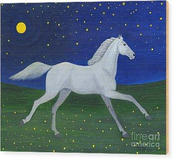 Starry Night In August Wood Print by Anna Folkartanna Maciejewska-Dyba