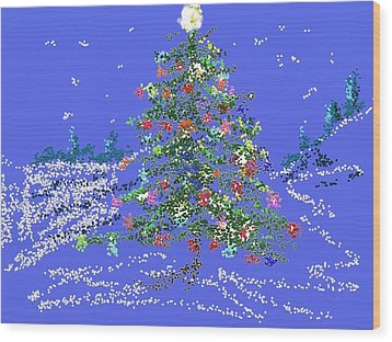 Starry, Starry Night Wood Print by Carol Berning