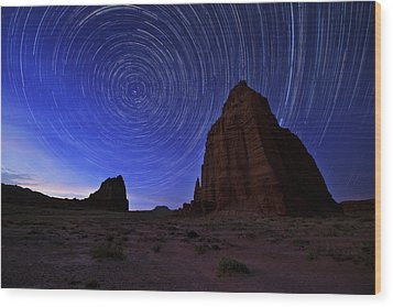 Stars Above The Moon Wood Print