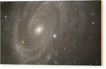 Stars And Spiral Galaxy Wood Print by Jennifer Rondinelli Reilly - Fine Art Photography