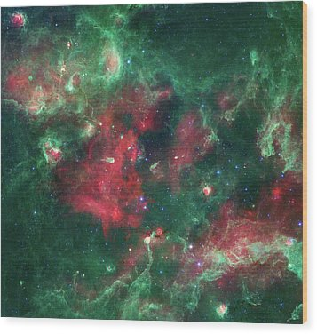 Wood Print featuring the photograph Stars Brewing In Cygnus X by Nasa