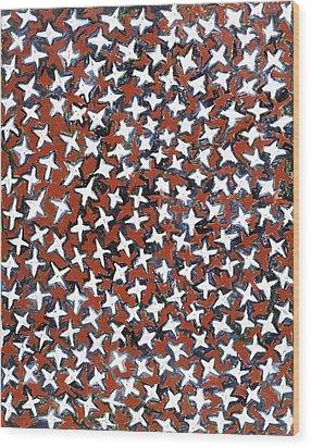 Stars Wood Print by Joan De Bot