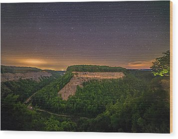 Wood Print featuring the photograph Stars Over Great Bend by Mark Papke