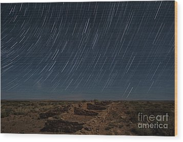 Wood Print featuring the photograph Stars Remain Unchanged by Melany Sarafis