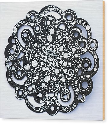 Stars Wood Print by Carole Brecht