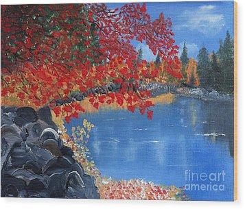 Start Of Fall Wood Print