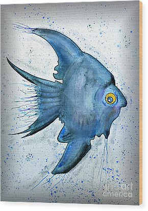 Startled Fish Wood Print