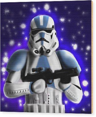 Starwars. Stormtrooper Wood Print by Sandra Geis