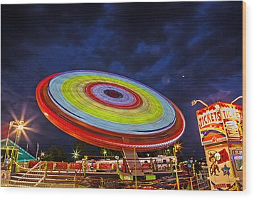State Fair Wood Print by Sennie Pierson
